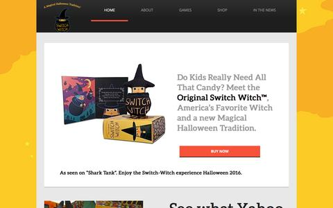 "Screenshot of Home Page switch-witch.com - Switch Witch - As Seen On ""Shark Tank"" - captured June 15, 2016"