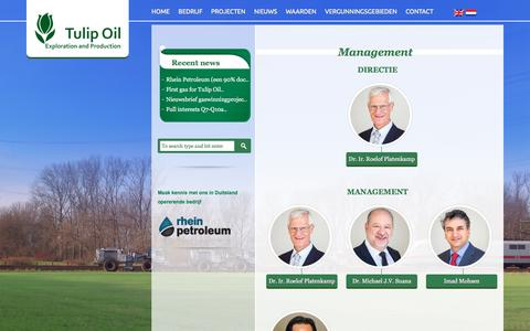 Screenshot of Team Page tulipoil.com - Management | Tulip Oil | Upstream development and production company with a focus on oil and gas assets in Western Europe. - captured Jan. 12, 2016