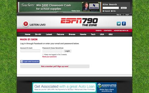 Screenshot of Login Page 790thezone.com - ESPN 790 The Zone, Atlanta - captured Oct. 27, 2014