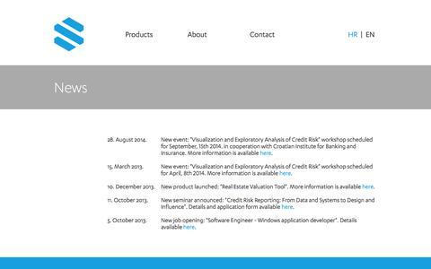 Screenshot of Press Page sunoptos.com - Sunoptos - News - captured Oct. 1, 2014