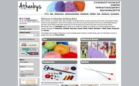 Screenshot of Site Map Page athenbys.com - Buy Knitting Yarn, Patterns & Accessories Online at Athenbys UK - captured Sept. 30, 2014