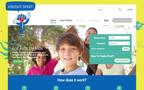 Screenshot of Home Page Login Page freakyrivet.com - Welcome To Freaky Rivet - Freaky Rivet - captured Sept. 22, 2014