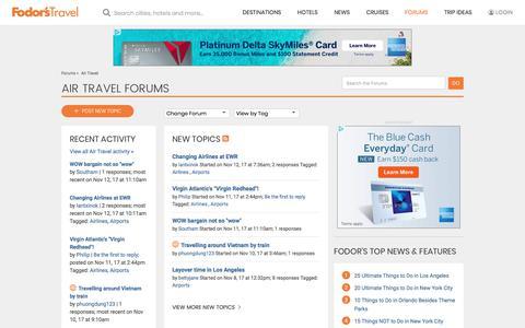 Air Travel Forum | Fodor's Travel Talk Forums