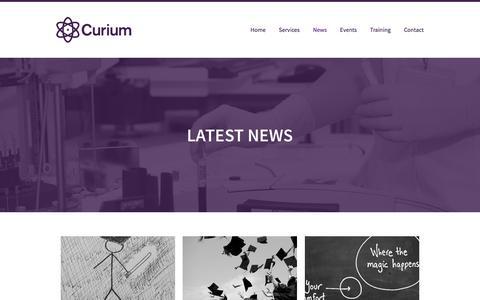 Screenshot of Press Page curiumco.com - News — Curium - captured Feb. 2, 2016
