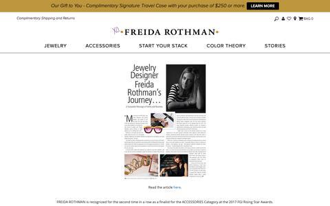 Screenshot of Press Page freidarothman.com - PRESS - captured Nov. 6, 2018