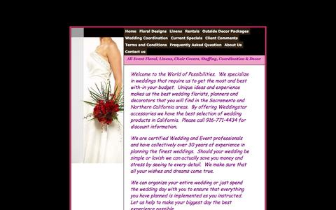 Screenshot of About Page weddingpossibilities.com - Owners, Jane Miller and Dodie Hennigan - captured Dec. 20, 2016