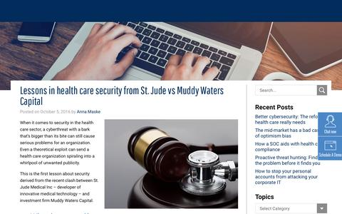 Lessons in health care security from St. Jude vs Muddy Waters Capital