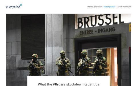 Screenshot of Blog proxyclick.com - Visitor Journey - captured Dec. 1, 2015