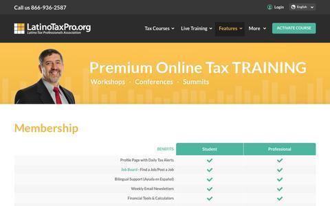 Screenshot of Signup Page latinotaxpro.org - Membership - Latino Tax Professionals - captured Jan. 26, 2016