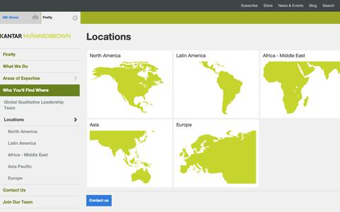 Screenshot of Locations Page millwardbrown.com - Locations - captured Sept. 26, 2018