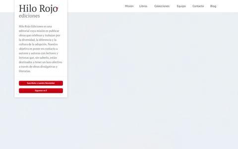Screenshot of Home Page hilorojoediciones.com - Hilo Rojo Ediciones - Editorial Digital para familias adoptivas - captured Oct. 8, 2014