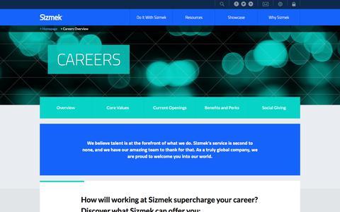 Screenshot of Jobs Page sizmek.com - Careers - captured June 4, 2017