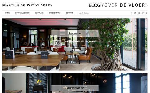 Screenshot of Blog martijndewitvloeren.nl - Alles over houten vloeren | houtenvloerenblog - captured Dec. 10, 2018