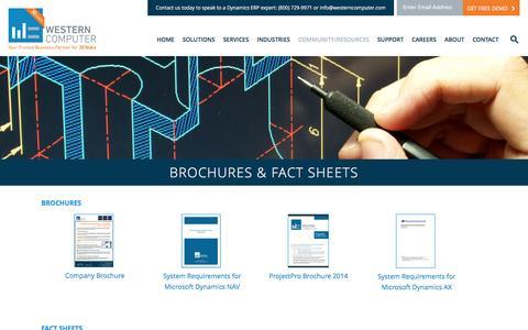 Brochures & Fact Sheets | Western Computer, Microsoft Dynamics AX, DynamicsShip for NAV