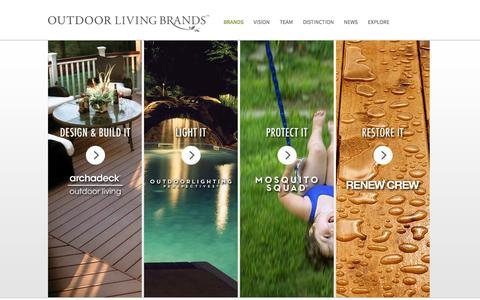 Screenshot of Home Page outdoorlivingbrands.com - Outdoor Living Brands Franchise Opportunities - captured Oct. 7, 2014