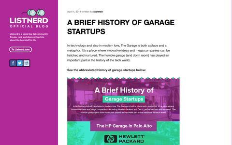 Screenshot of Blog listnerd.com - Official Listnerd Blog - captured Sept. 16, 2014