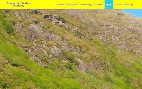 Screenshot of Press Page connemaramathsacademy.com - News | - captured Sept. 30, 2014