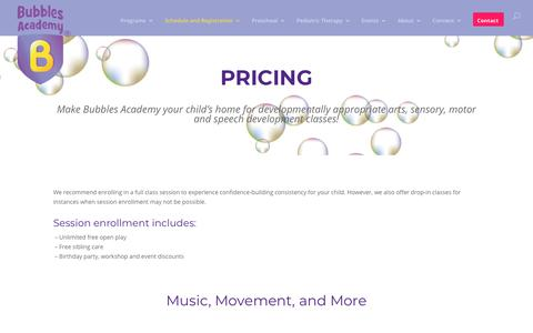 Screenshot of Pricing Page bubblesacademy.com - Pricing - Bubbles Academy - captured Aug. 4, 2018