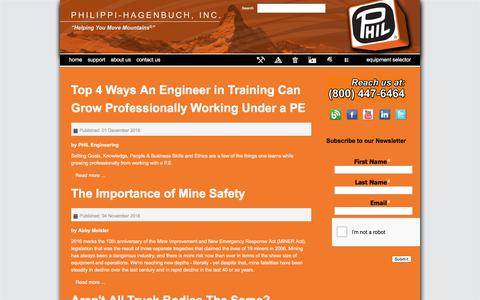 Screenshot of Blog philsystems.com - Blog - Philippi-Hagenbuch - Custom equipment for off-highway haul trucks - captured July 30, 2017