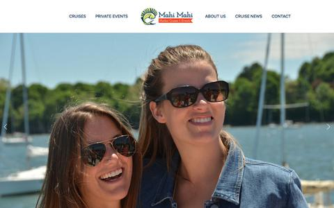Screenshot of Home Page mahicruises.com - Mahi Mahi Harbor Cruises & Events - captured Sept. 27, 2017