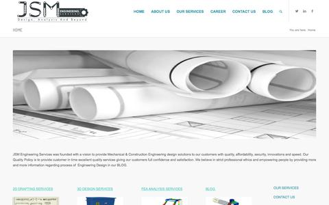 Screenshot of Home Page jsmengineering.net - DRAFTING SERVICES|ENGINEERING CAD SERVICES|2D & 3D - captured Sept. 11, 2015