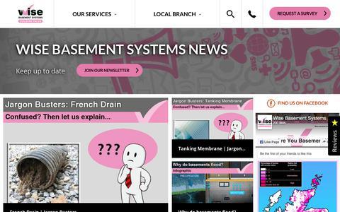 Screenshot of Press Page wisebasementsystems.com - Wise Basement Systems | News - captured Sept. 20, 2018