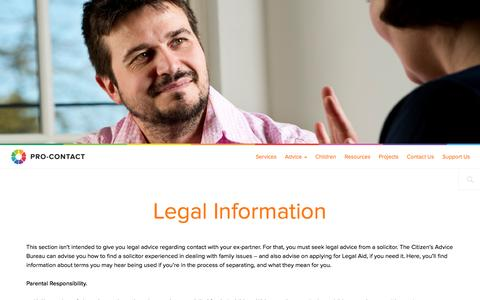 Screenshot of Terms Page pro-contact.org.uk - Legal Information  |  Pro Contact - captured Sept. 30, 2014