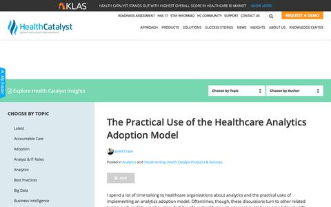 The Practical Use of the Healthcare Analytics Adoption Model