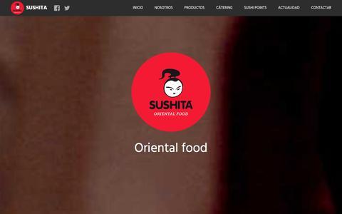 Screenshot of Home Page sushita.com - Sushita Catering y platos preparados de Cocina Internacional - captured Dec. 20, 2015