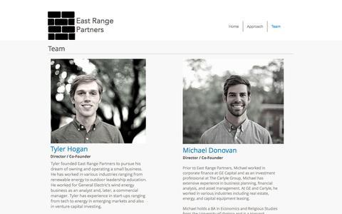 Screenshot of Team Page eastrangepartners.com - East Range Partners | Team - captured Oct. 19, 2016