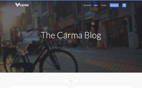 Screenshot of Blog carmacarpool.com - The Carma Blog - captured June 16, 2015