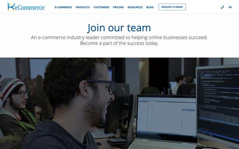 Screenshot of Jobs Page k-ecommerce.com - Careers | k-eCommerce - captured Jan. 21, 2019
