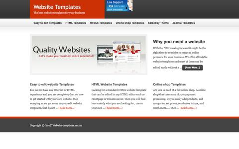 Screenshot of Home Page website-templates.net.au - Website Templates — The best website templates for your business - captured June 6, 2016