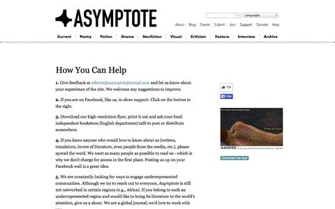 Screenshot of Support Page asymptotejournal.com - Support - Asymptote - captured Sept. 19, 2014