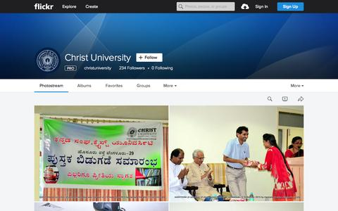 Screenshot of Flickr Page flickr.com - Christ University | Flickr - Photo Sharing! - captured Oct. 1, 2015
