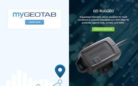 Screenshot of Login Page geotab.com - Fleet Management Software Login | Geotab - captured July 13, 2016