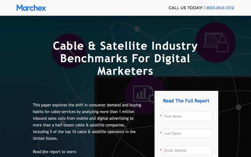 Marchex - Cable & Satellite Industry Benchmarks For Digital Marketers