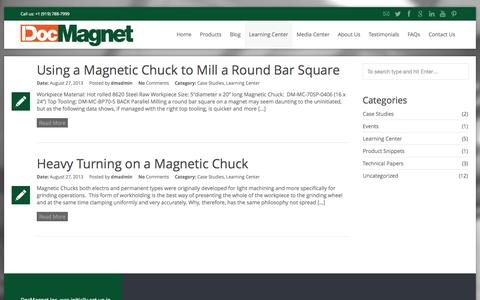 Screenshot of Case Studies Page docmagnet.com - Case Studies Archives - DocMagnet - captured Oct. 6, 2014