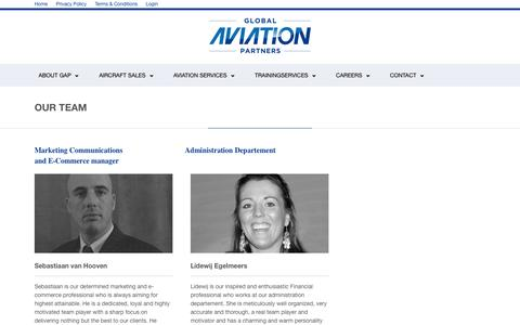 Screenshot of Team Page globalaviationpartners.com - OUR TEAM | Global Aviation Partners Global Aviation Partners - captured Sept. 30, 2014