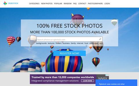 Screenshot of Home Page rgbstock.com - rgbstock.com - free stock photos - captured Sept. 21, 2018