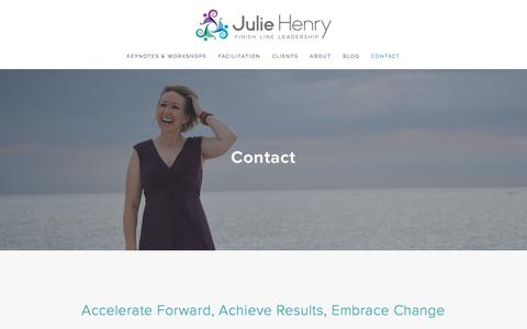 Screenshot of Contact Page juliechenry.com - Contact — Julie Henry - captured March 1, 2016