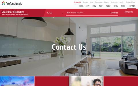 Screenshot of Contact Page professionals.com.au - Contact Us - Professionals Real Estate | Professionals Real Estate | Property for sale and rent - captured Sept. 29, 2018