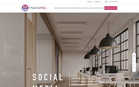 Screenshot of Home Page maramel.com - Online Marketing Agency Montreal | Digital Marketing Agency Montreal - captured Oct. 2, 2018