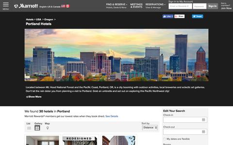 Find Portland Hotels by Marriott