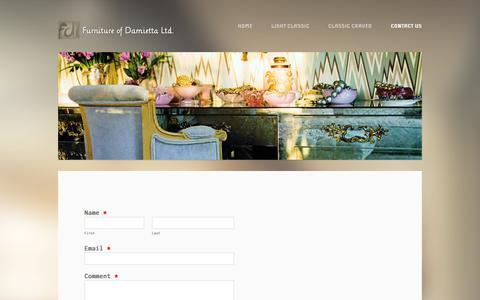 Screenshot of Contact Page weebly.com - Hand Made Craved Furniture for Export - captured Sept. 17, 2014