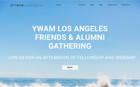Screenshot of ywamla.org - Alumni – YWAM Los Angeles - captured Oct. 28, 2017