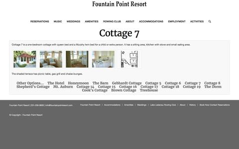 Cottage 7 – Fountain Point Resort