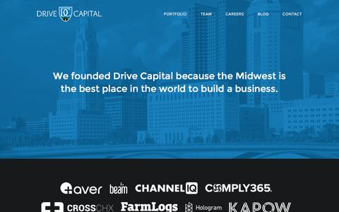 Screenshot of Home Page drivecapital.com - Drive Capital » Venture Funding for Companies in the Midwest - captured Aug. 2, 2016