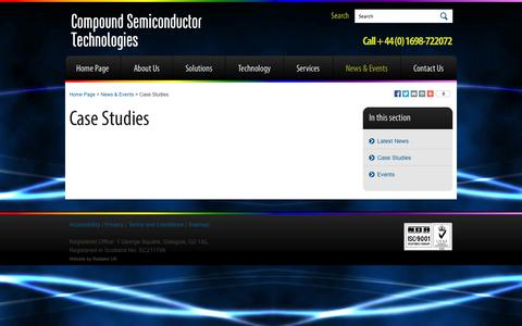 Screenshot of Case Studies Page compoundsemi.co.uk - Compound Semiconductor Technologies | - captured Sept. 17, 2014