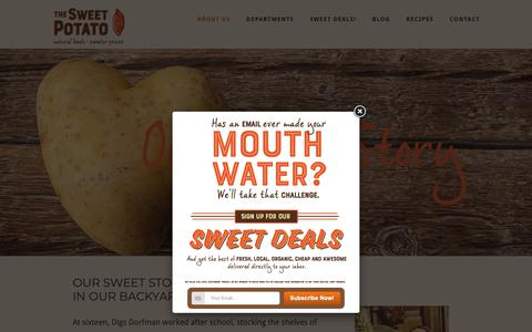 Screenshot of About Page thesweetpotato.ca - About Us - The Sweet Potato - captured Oct. 18, 2018
